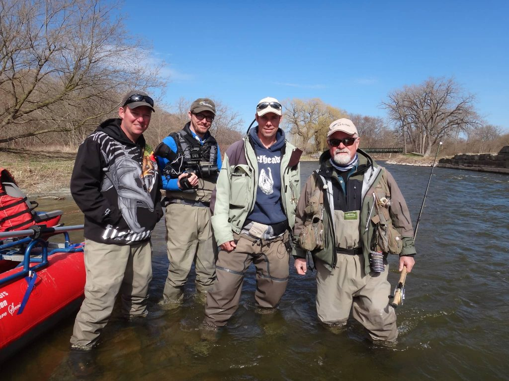 Graham with the crew from the New Fly Fisher TV show