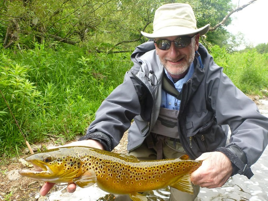 Ron with a 23.5 inch Grand River Brown Trout
