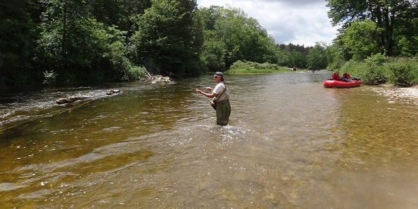 Spin fishing on one of the best rivers in Ontario