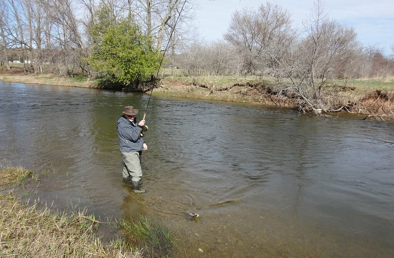 Centerpin fishing for Ontario Rainbow Trout