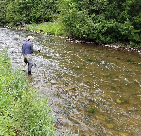 Duffins Creek is a good river for steelhead and salmon