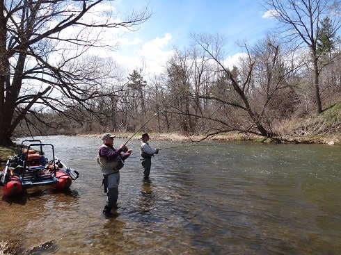 Anglers getting river fishing lessons in Ontario