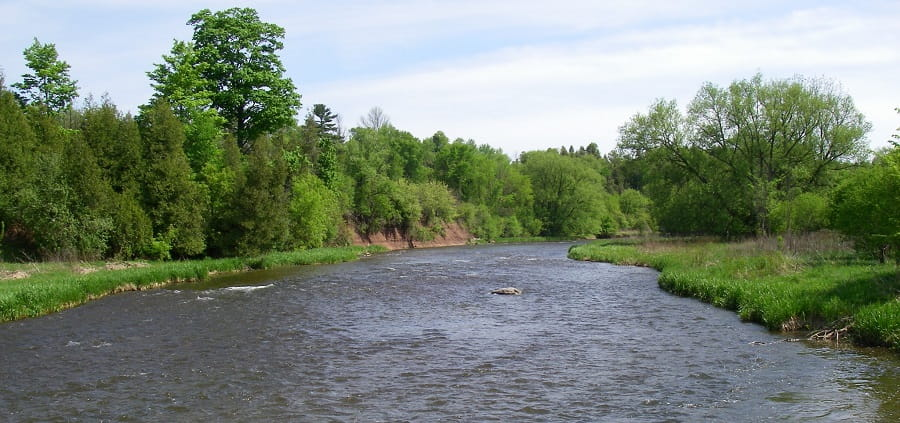 For great fishing near Toronto, anglers like to try the Credit river for it's big trout and steelhead runs
