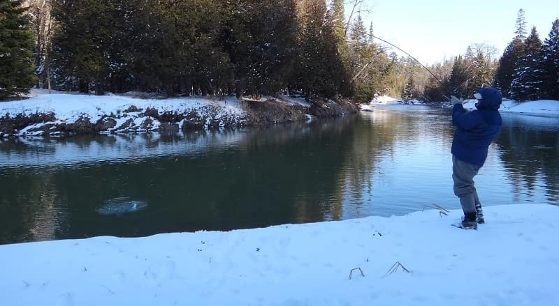 The best method for winter steelhead fishing is to float fish.